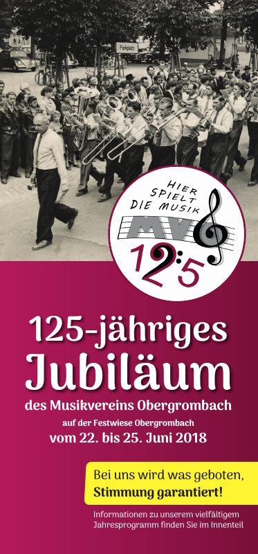 Flyer zum Jubiläum (Seite 1)