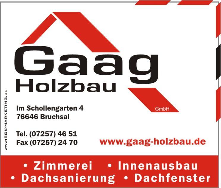 Sponsorenlogo: Gaag Holzbau