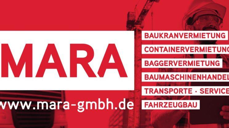 Sponsorenlogo: Firma Mara - Baumaschinen