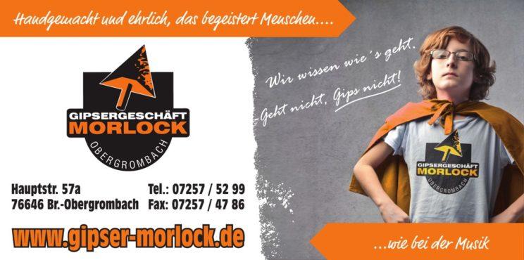 Sponsorenlogo: Gipsergeschäft Morlock