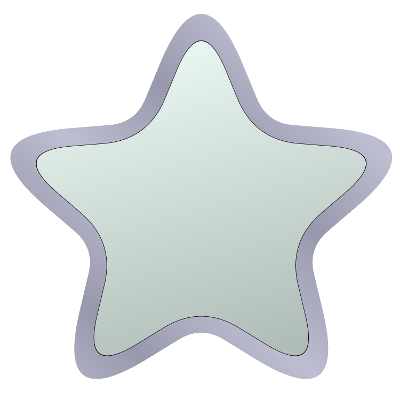 Stern, silber