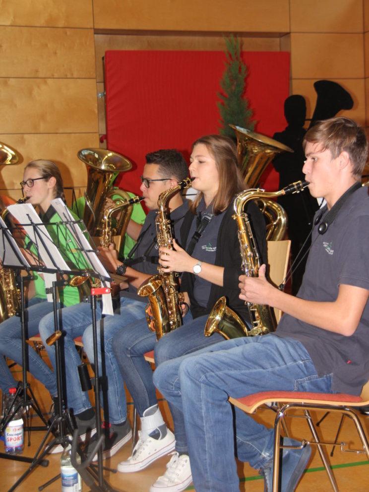 4 Bands 4 Future - Die Saxophone bei der Arbeit
