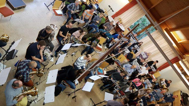 Das Hauptorchester beim Probewochenende 2018