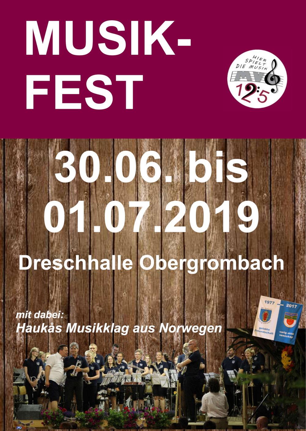 Plakat zum Musikfest 2019