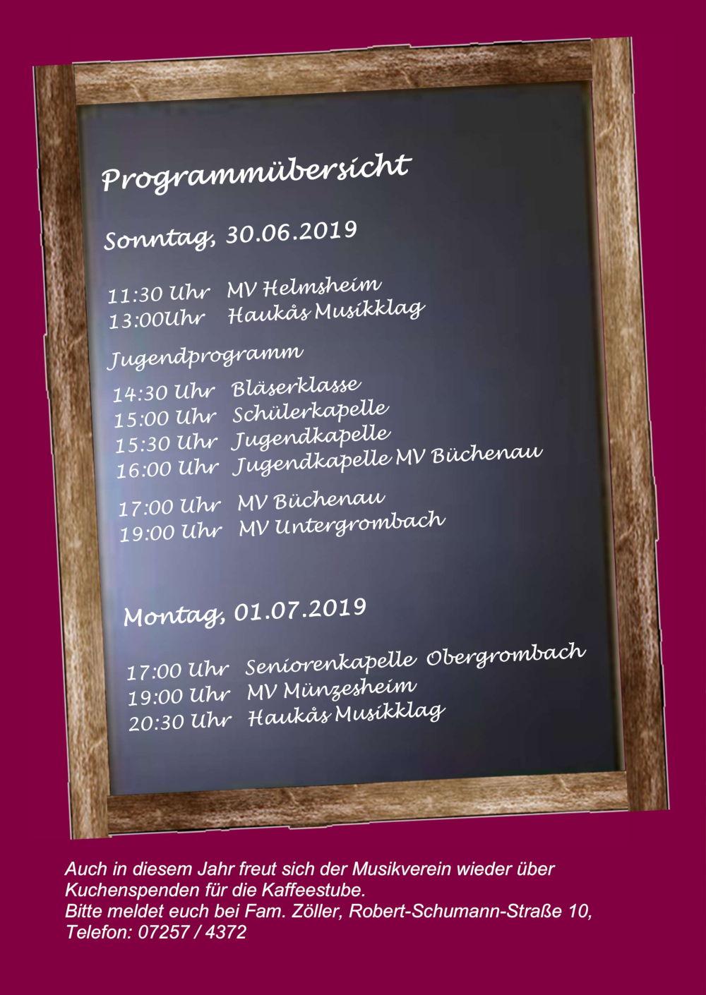 Musikfest 2019: Auftritte der Gastkapellen