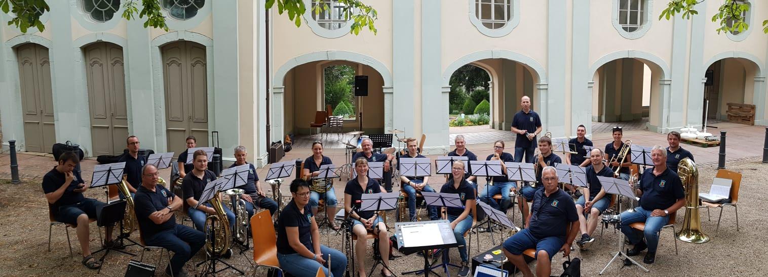 Hauptorchester beim Sommerfest der CG Lyra Bruchsal
