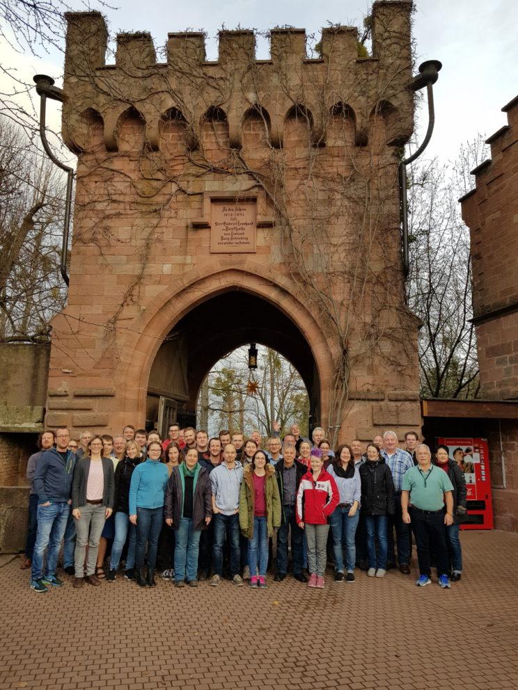 Gruppenfoto des MVO Hauptorchesters beim Probewochenende in der JHB Ortenberg.